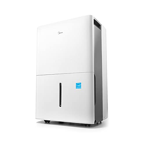 Midea 4,500 Sq. Ft. Energy Star Certified Dehumidifier with Reusable Air Filter 50 Pint 2019 DOE (Previously 70 Pint) - Ideal For Basements, Extra Large Rooms...