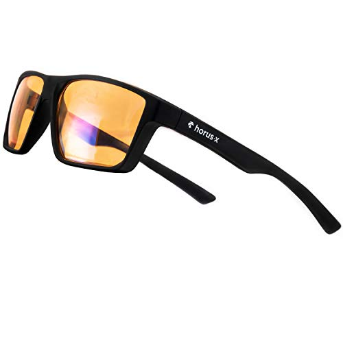 HORUS X - Blue Light Blocking Glasses - Gaming Glasses - Ultimate protection - Professional Powerful Filter | Anti Glare Anti-Fatigue & eyestrain for screens...