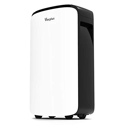 Vacplus 30 Pints Dehumidifier for Medium Rooms, Home Basements Bedroom - Efficiently Removes Moisture with Auto-shutoff and Continuous Drainage Outlet Timing...