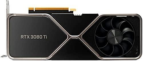 New 2021 GeForce RTX 3080 Ti 12GB GDDR6X PCI Express 4.0 Graphics Card Titanium and Black