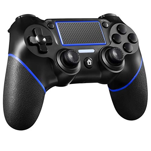 ORDA Gaming Controller Wireless Gamepad Compatible with PS4/Pro/Slim/PC and Laptop with Motion Motors and Audio Function, Mini LED Indicator, USB Cable and...