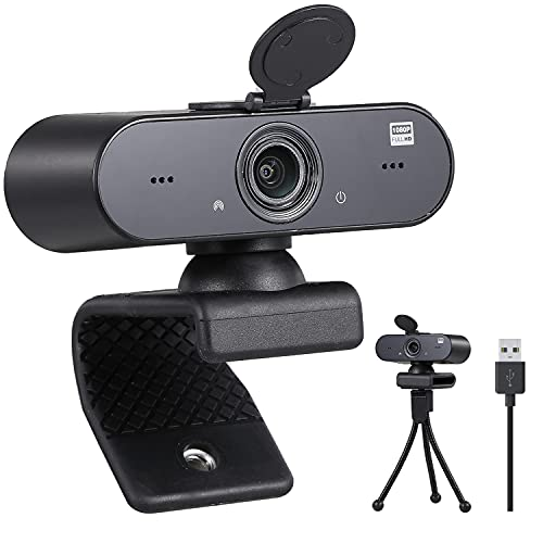 1080p 25FPS Webcam for Streaming and Recording Twitch, YouTube, Zoom and Gaming for Desktop and Laptop with Built-in Internal Microphone and Privacy Cover...