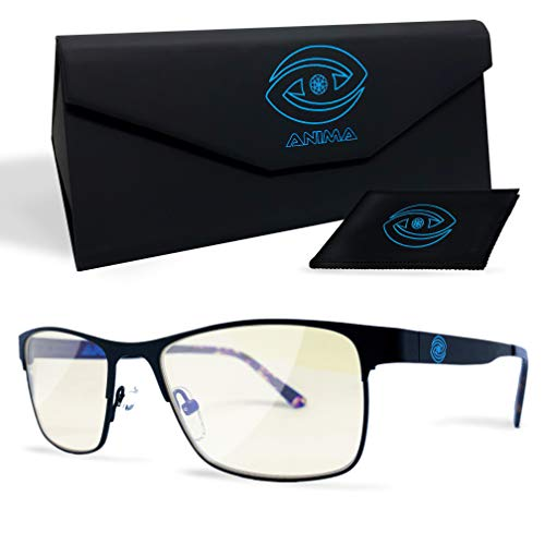 Anima Computer/Gaming Blue Light Glasses - Blue Light Blocking Glasses to Reduce Digital Eyestrain/Fatigue, Get Better Sleep, Prevent Headaches - Increased...