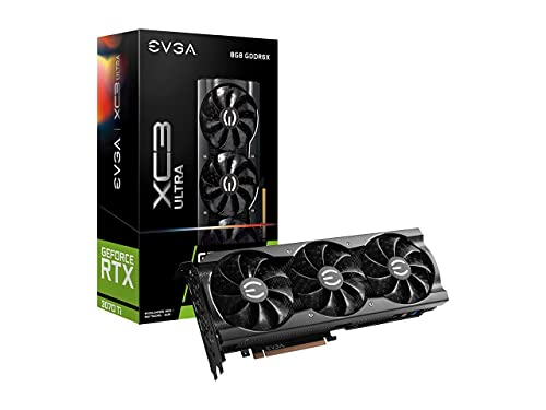 EVGA GeForce RTX 3070 Ti XC3 Ultra Gaming, 08G-P5-3785-KL, 8GB GDDR6X, iCX3 Cooling, ARGB LED, Metal Backplate