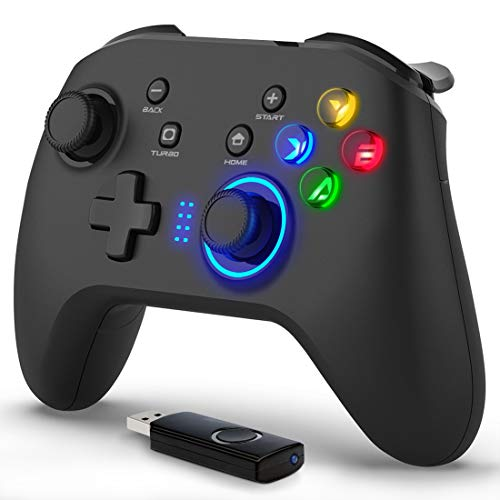 Forty4 Wireless Gaming Controller, Dual-Vibration Joystick Gamepad Computer Game Controller for PC Windows 7/8/10, PS3,/Switch/TV Box/Laptop/Android Mobile...