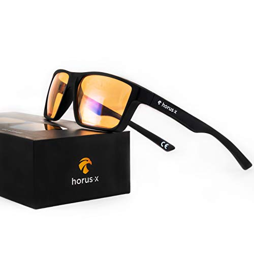 HORUS X - Blue Light Blocking Glasses - Gaming Glasses - Ultimate Protection - Professional Powerful Filter   Anti Glare Anti-Fatigue & eyestrain for Screens...