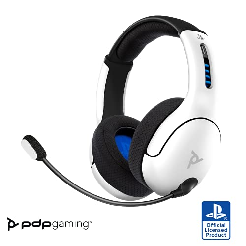 PDP Gaming LVL50 Wireless Stereo Gaming Headset: White - PlayStation 5, PlayStation 4, 051-049-Na-Wh - PlayStation 5
