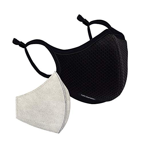 Halo Life Face Mask - Reusable/Washable with Replaceable Nanofiber Filter - Lightweight Ultra-Breathable, Specific Sizes, Adjustable to fit for...