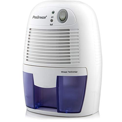 Pro Breeze Electric Small Dehumidifier, 2200 Cubic Feet (205 sq ft), Compact and Portable for High Humidity with Auto Shut Off