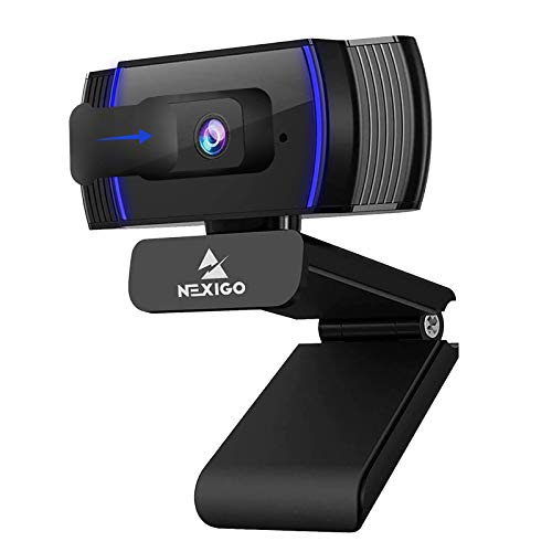 NexiGo AutoFocus 1080p Webcam with Stereo Microphone and Privacy Cover, N930AF FHD USB Web Camera, for Streaming Online Class, Compatible with...