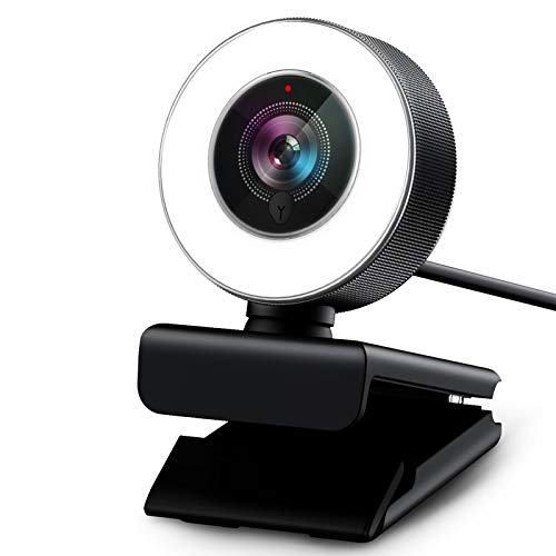 PC Webcam for Streaming HD 1080P, Vitade 960A USB Pro Computer Web Camera Video Cam for Mac Windows Laptop Conferencing Gaming with Microphone & Ring Light