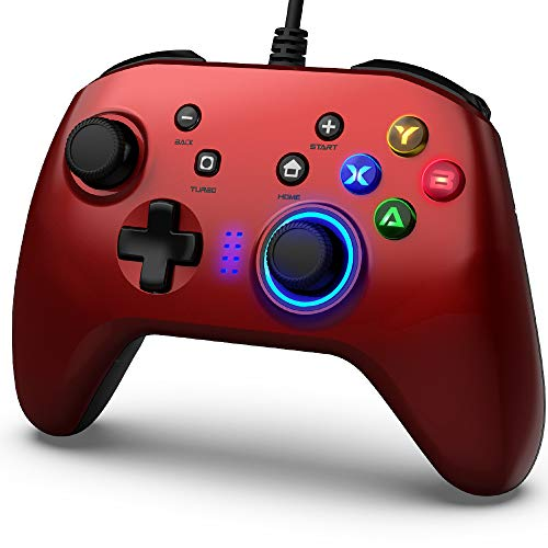 Wired Gaming Controller, Joystick Gamepad with Dual-Vibration PC Game Controller Compatible with PS3, Switch, Windows 10/8/7 PC, Laptop, TV Box, Android Mobile...