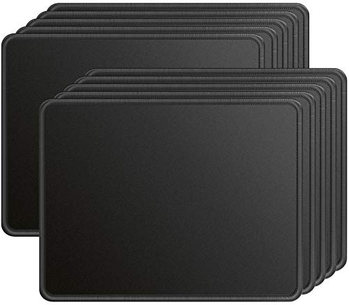 Ktrio 10 Pack Mouse Pad with Stitched Edges, Non-Slip Large Mousepad with Superior Micro-Weave Cloth, Water-Resist Mousepads Mouse Pads for Computers, Laptop,...