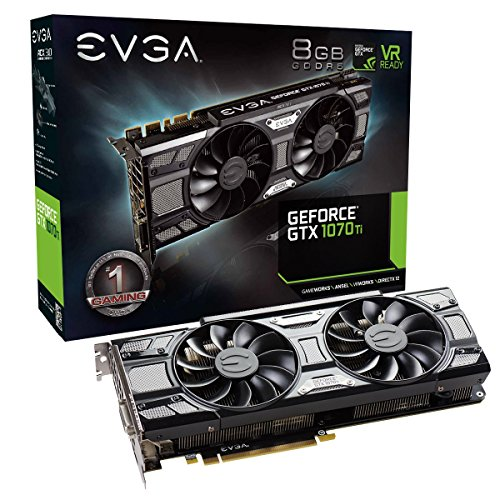EVGA GeForce GTX 1070 Ti SC GAMING ACX 3.0 Black Edition, 8GB GDDR5, EVGA OCX Scanner OC, White LED, DX12OSD Support (PXOC) Graphics Card 08G-P4-5671-KR...