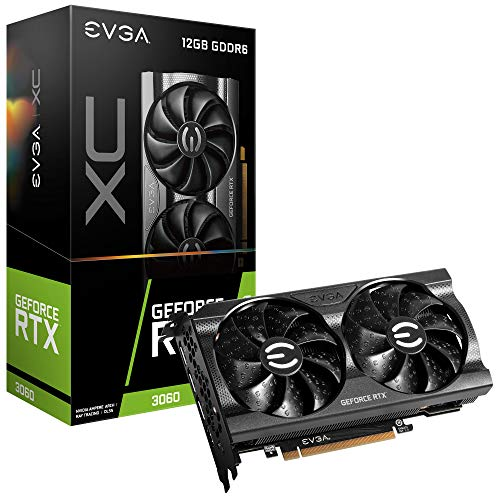 EVGA GeForce RTX 3060 XC Gaming, 12G-P5-3657-KR, 12GB GDDR6, Dual-Fan, Metal Backplate