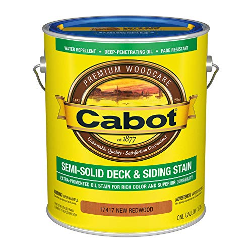 Cabot 140.0017417.007 Semi-Solid Deck & Siding Low VOC Exterior Stain, Gallon, New Redwood