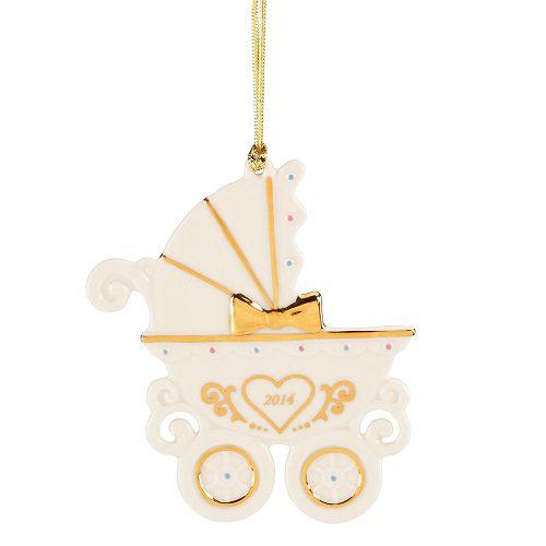 lenox 2014 babys 1st carriage ornament