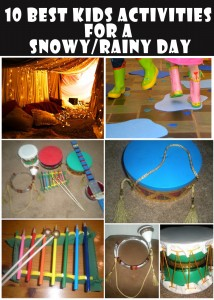 kids activities for a snowy rainy day