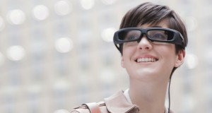 Sony Smarteyeglass smart glasses being worn 2