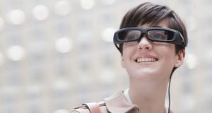 Sony Smarteyeglass smart glasses being worn 2