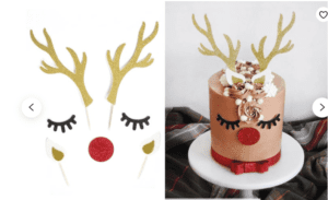 reindeer christmas santa home decor